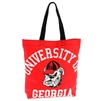 Georgia Red Canvas Tote Bag