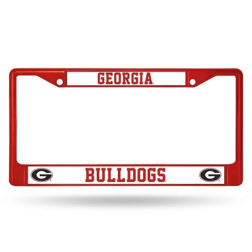 Georgia Bulldogs Anodized Red License Plate Frame Uga License Plate Frame Georgia Auto Tag Frame