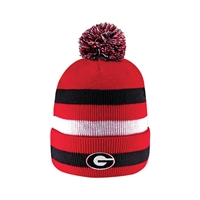 Georgia Bulldogs Knit Cuff Pom Hat