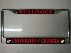 georgia bulldogs black and red license plate frame