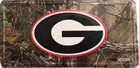 Georgia Bulldogs Camouflage Metal License Plate