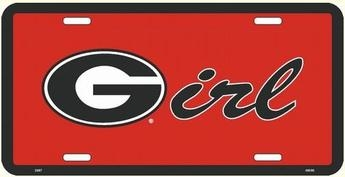 Georgia Bulldogs G Girl Metal License Plate