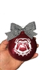 UGA Bulldogs Go Dawgs Georgia Glitter Ornament