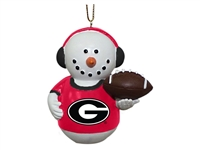 Georgia Bulldogs Snowman Earmuffs Ornament