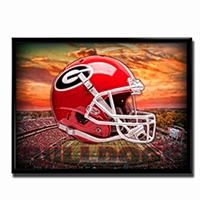 Georgia Bulldogs Head Gear Poster