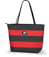 Georgia Bulldogs Rugby Striped Tote