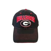 UGA Black Adjustable Hat