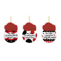 Georgia Bulldogs Team Saying Hanging Glass Ball Ornament