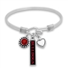 Georgia Bulldogs Triple Charm Wire Bangle Bracelet