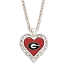 Georgia Red Heart Necklace