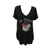 UGA Ladies Go Dawgs V-Neck Shirt