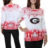 Georgia Bulldogs Women's Three-Quarter Sleeve Dip Dye T-Shirt