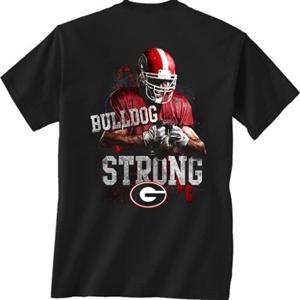 Uga Bulldog Strong T Shirt Georgia Bulldogs Apparel