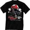 Georgia Bulldogs Helmet In Air T-Shirt