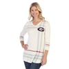 Georgia Bulldogs Plaid Print Tunic
