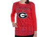 Georgia Bulldogs Paisley Print Sleeve Shirt