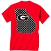 Georgia Red Quatrefoil T-Shirt