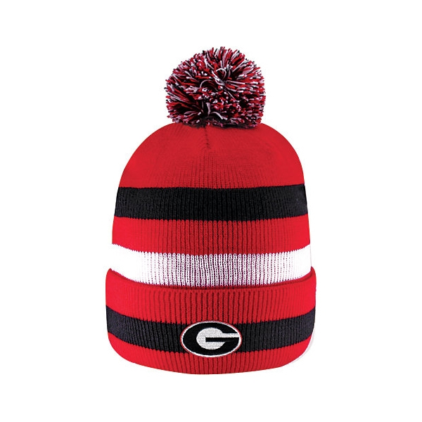 Georgia Bulldogs Knit Cuff Pom Hat  c1276c7f85d
