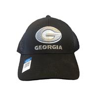 timeless design 14ea2 a741e ... Stretch Cap, Georgia Bulldogs Predator Meshback Adjustable Black Hat ...
