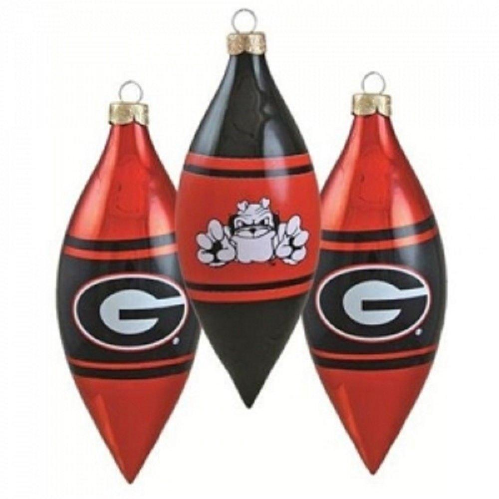 UGA Teardrop 3 Pack Christmas Ornaments | Georgia ...