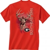 Georgia Bulldogs Graphite Deer T-Shirt